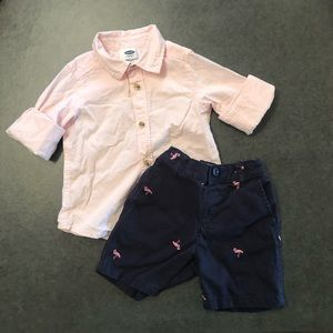 2T Old Navy/Children's Place Outfit with Flamingos